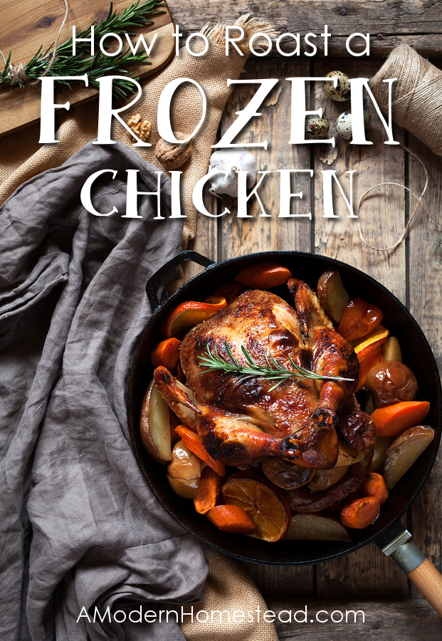 Stop waiting for your chicken to thaw! Here's how to cook a frozen chicken! I had no idea it was so easy!