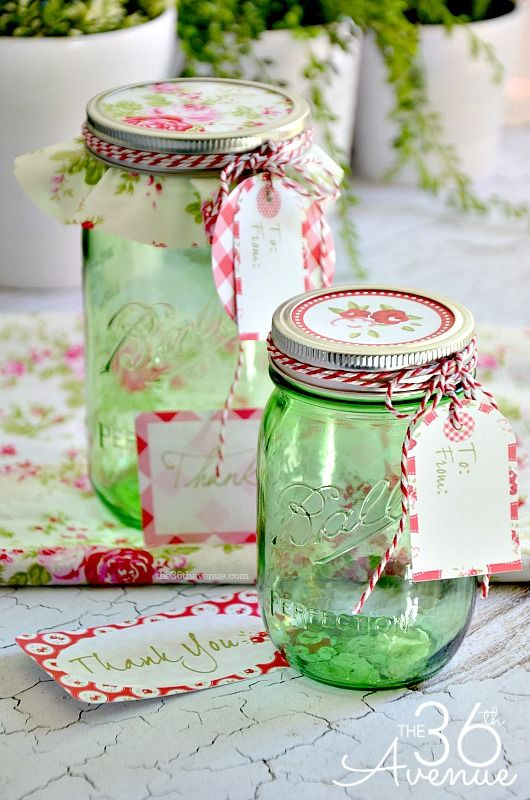 Ball Jar Decorations Free Printable and Gift Jar Idea Free printables Jar and Gift 1