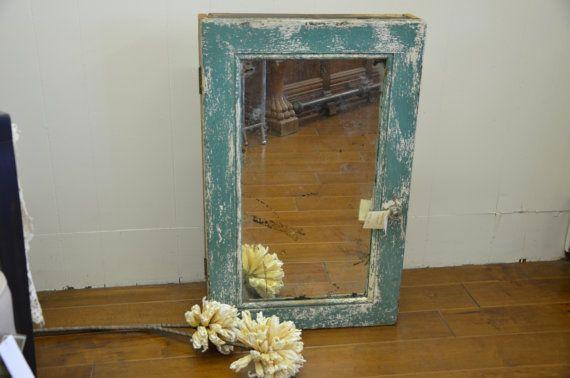 Vintage Wooden Medicine Cabinet by SerenityDesignLBI on Etsy, $175.00