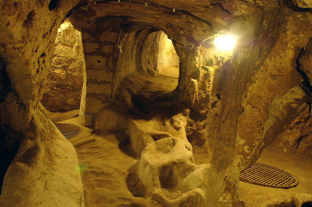 The Underground City Of Cappadocia Turkey Ancient Underground City Underground Cities Underground Tunnels