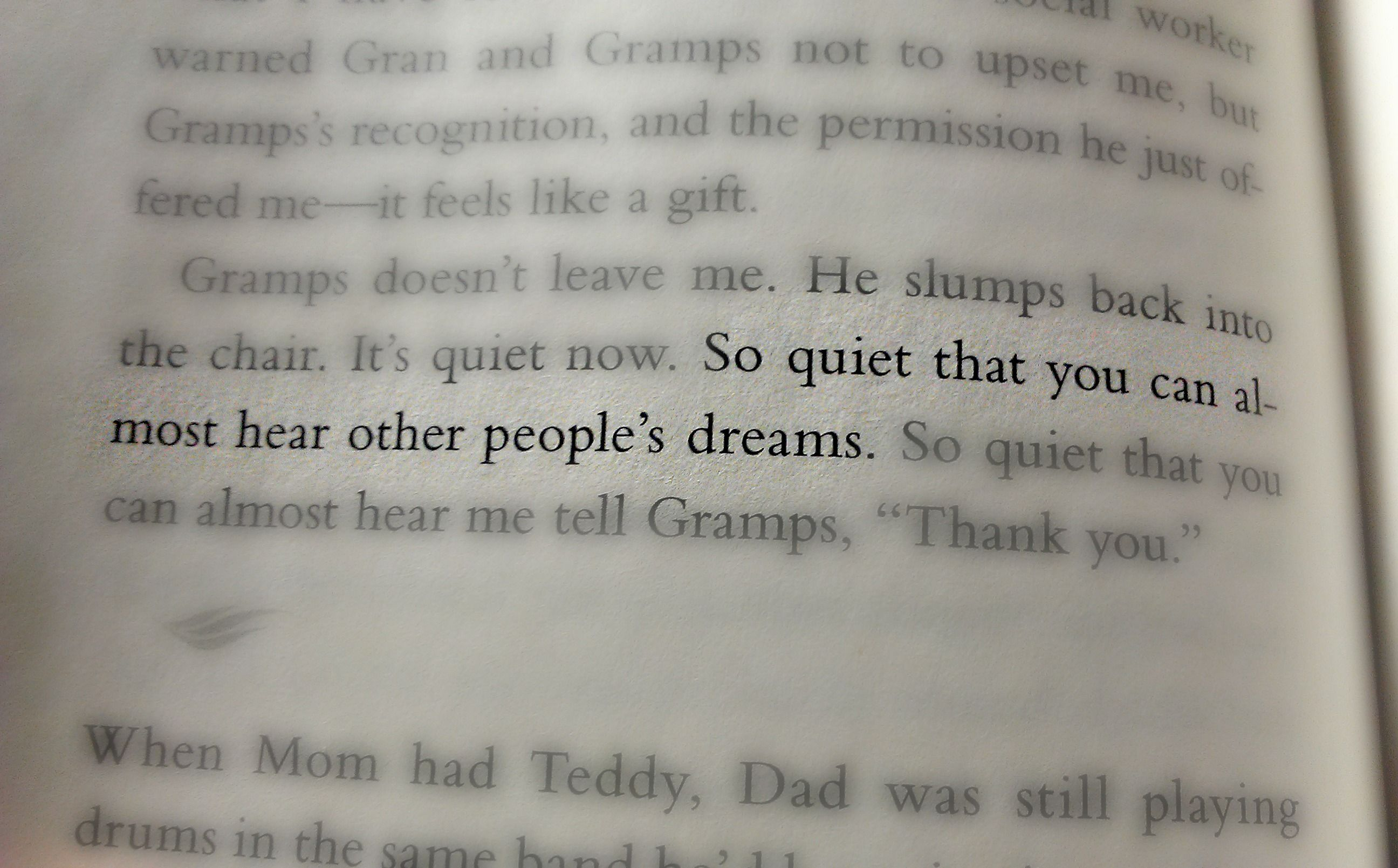 Beautiful Line from a very well written book - If I Stay ...