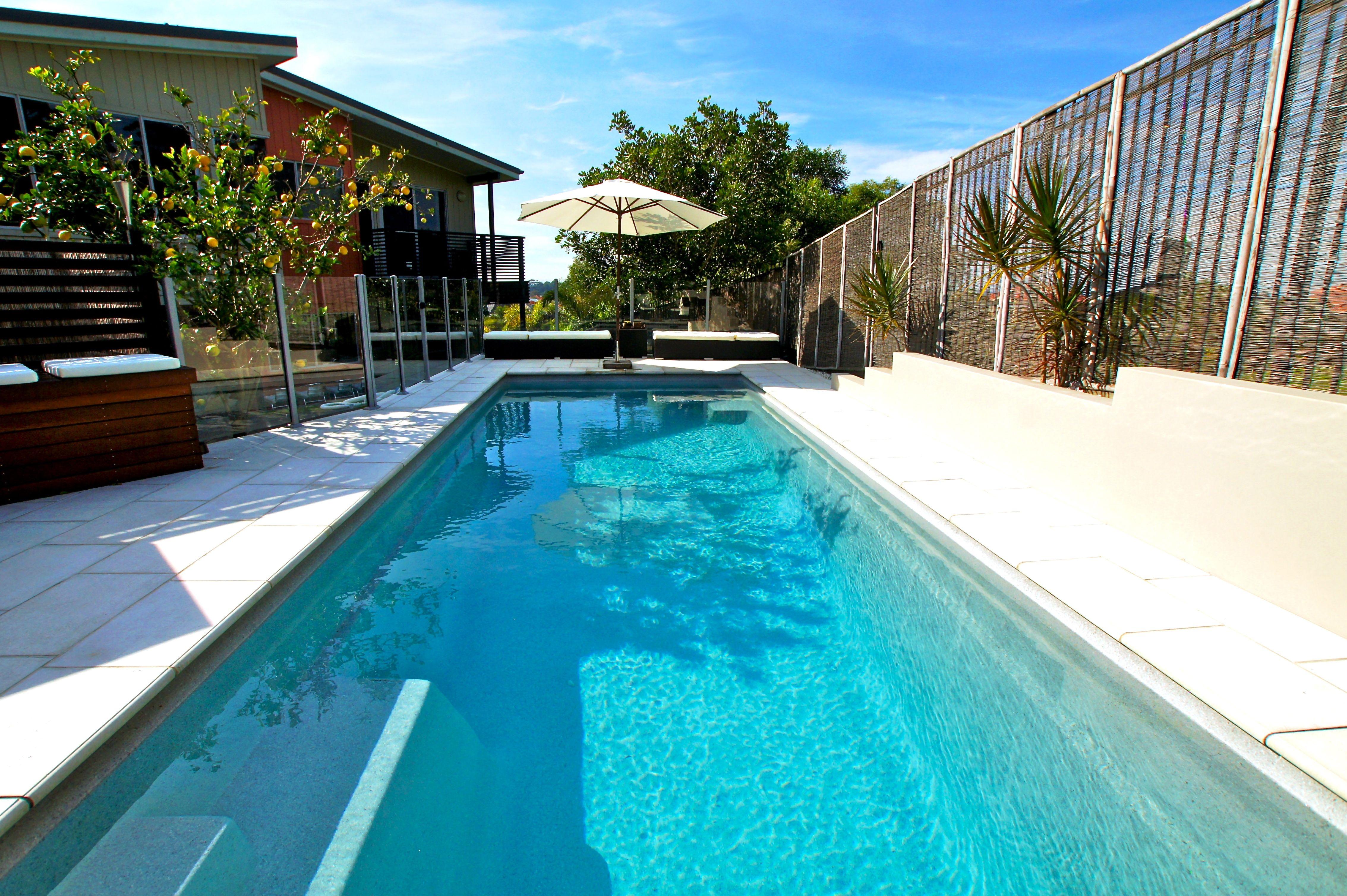 The Madeira pool is a modern sleek