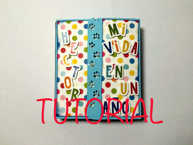 Como hacer un mini album con espacio para muchas fotos - Como hacer un album scrapbook ...