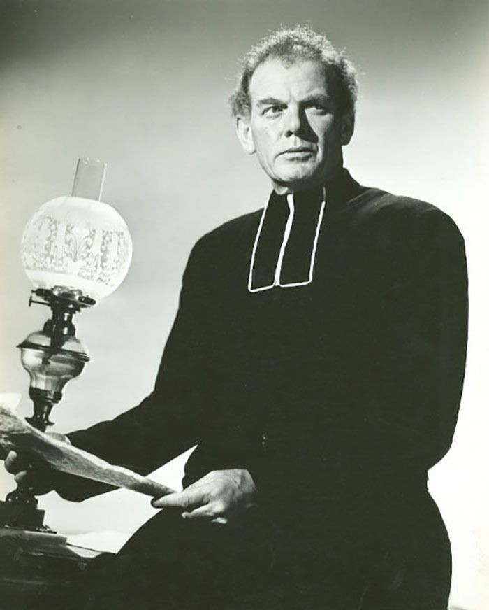 "Charles Bickford en ""La Canción de Bernadette"" (The Song of Bernadette), 1943"