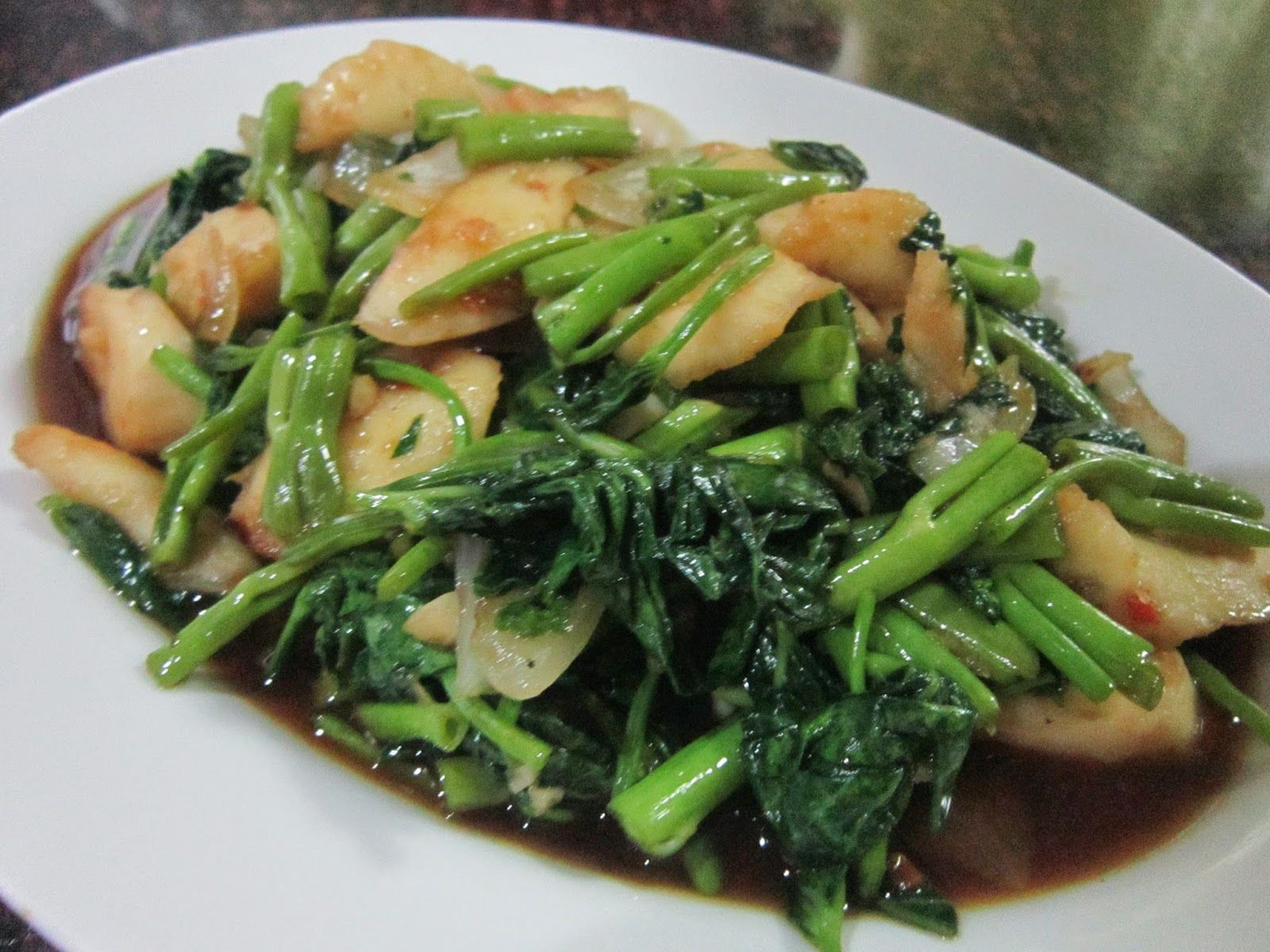 how to cook squid with oyster sauce