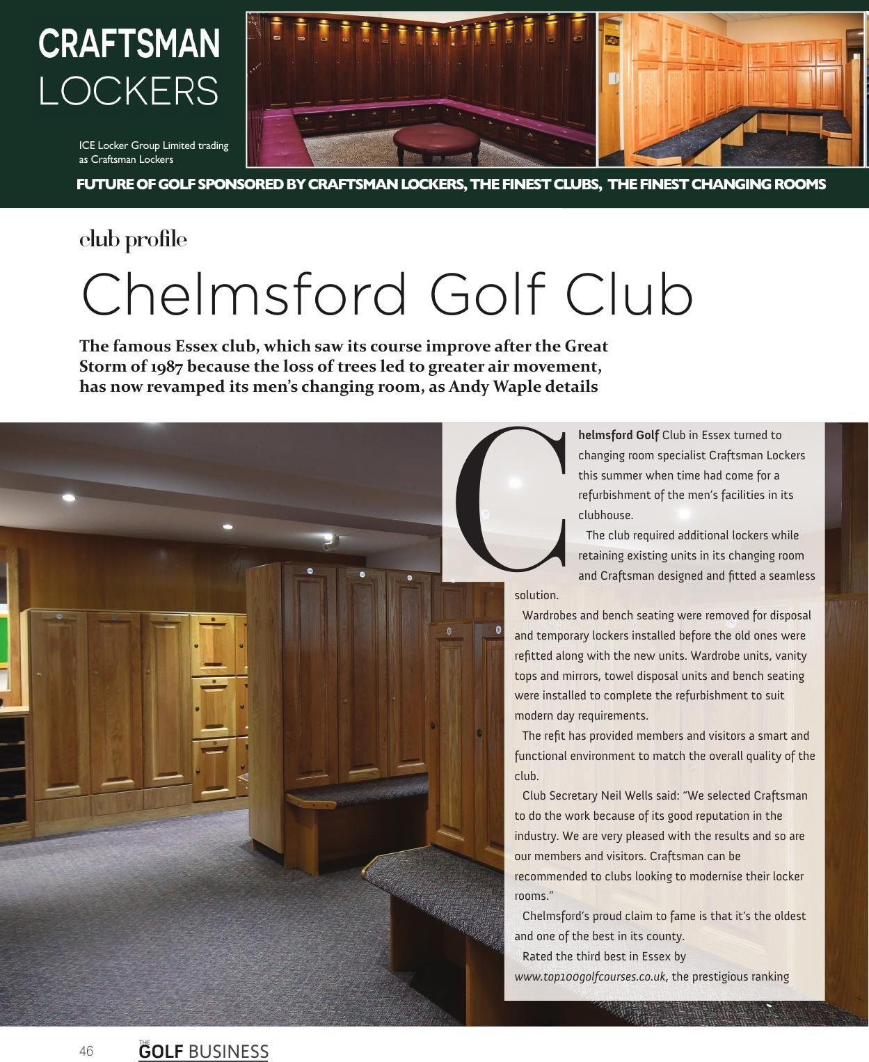 the golf business magazine december 2017 golf club lockers rh pinterest com
