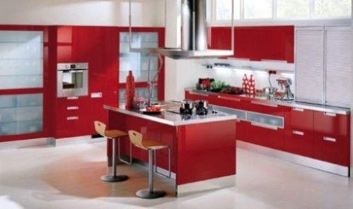 Cocinas Modernas Color Rojo | italian kitchens | Pinterest | Cocina ...