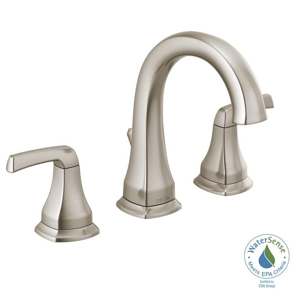 Delta Portwood 8 In Widespread 2 Handle Bathroom Faucet In
