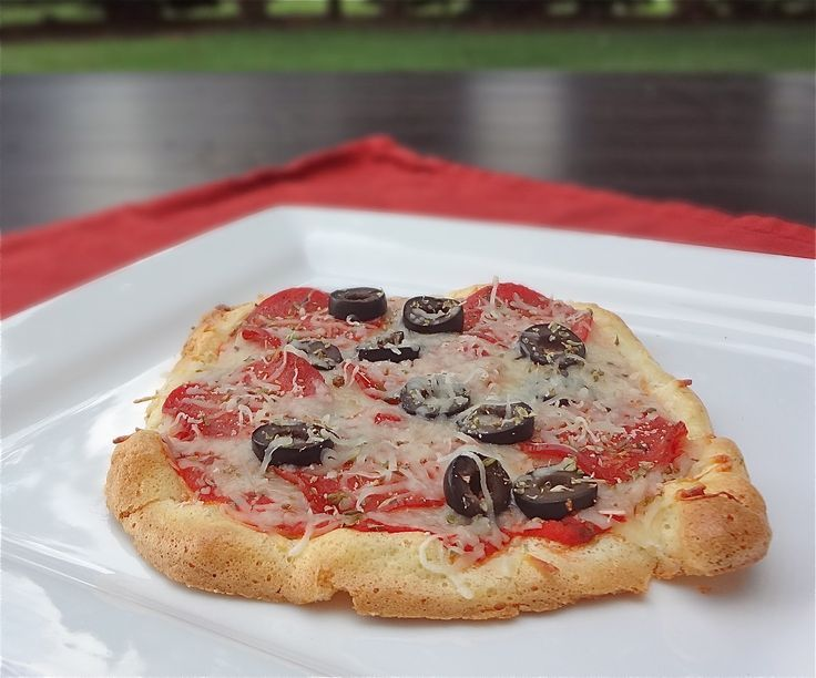 Try this low carb crust with pepperoni and black olives - Favorite Recipes -