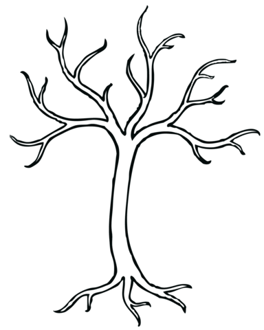 Kale Boom Kleurplaat Printables Bare Tree Tree Crafts Tree