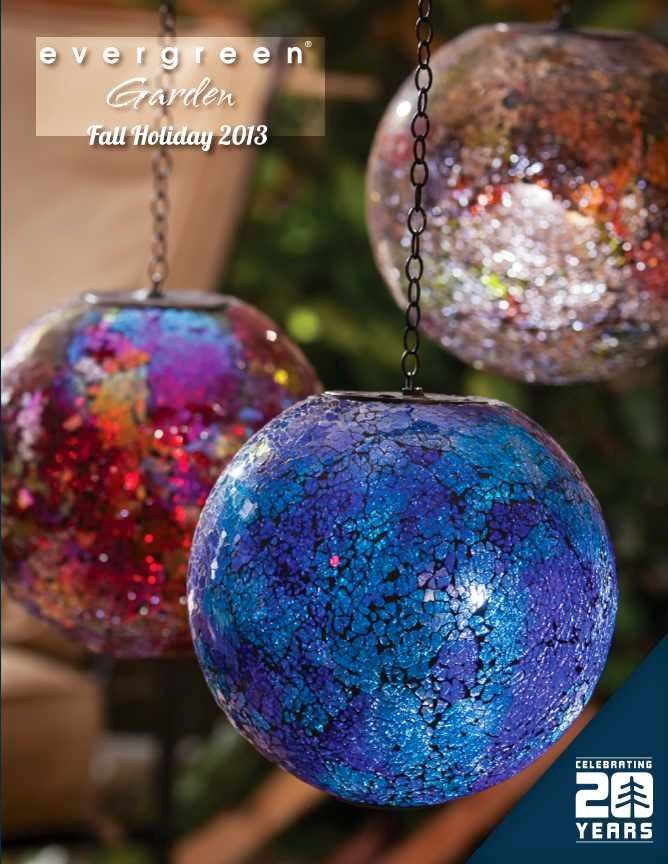 Night Garden Solar Hanging Gazing Balls From Evergreen Garden Globes Gazing Ball Blue Mosaic