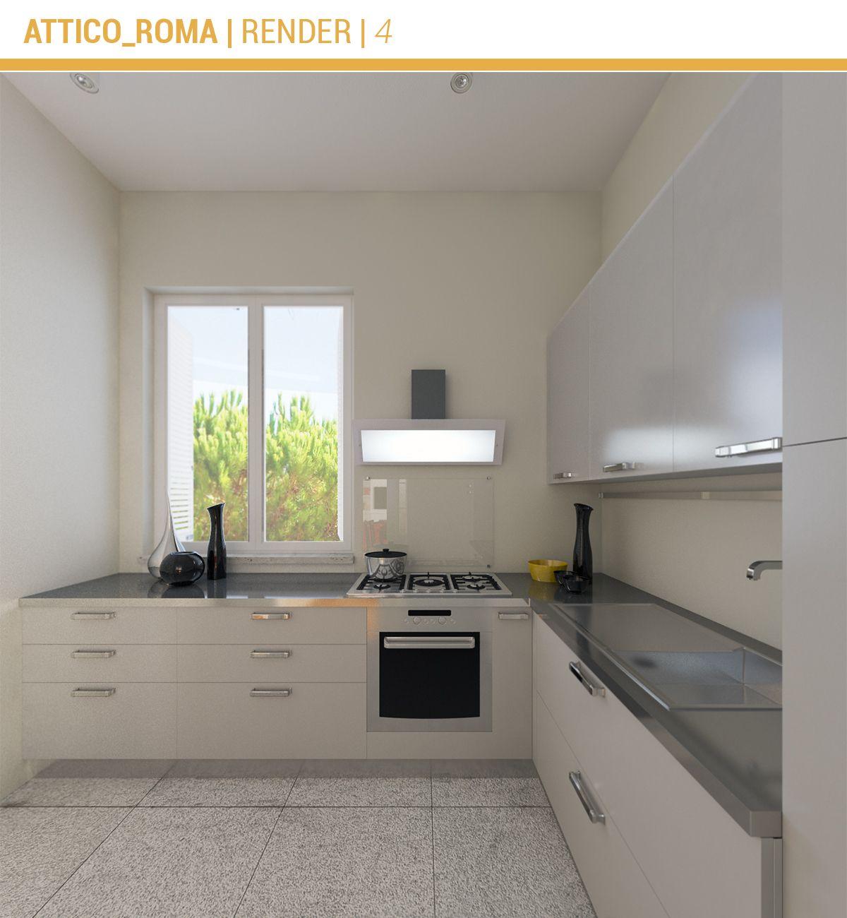 Ristrutturazione Attico Roma Cucina Interni casa