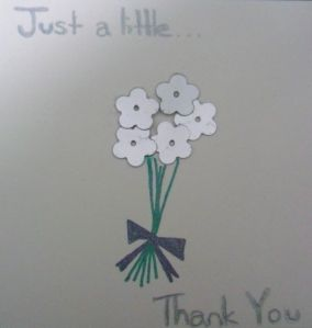 Just a little...Thank you card