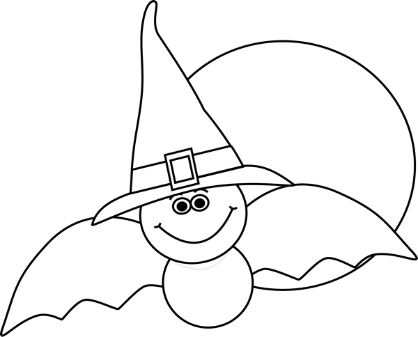 Black And White Bat And Full Moon And Full Moon Halloween Images Halloween Pictures Black And White