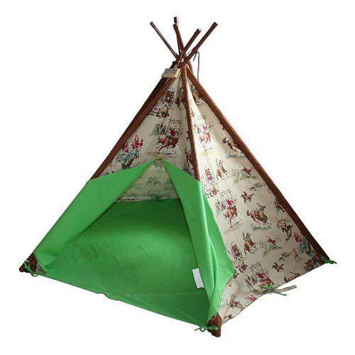 Teepee play tent  sc 1 st  Pinterest & Wigwam Teepee Play Tent -Canvas - Cowboys u0026 Indians | Sunny House ...