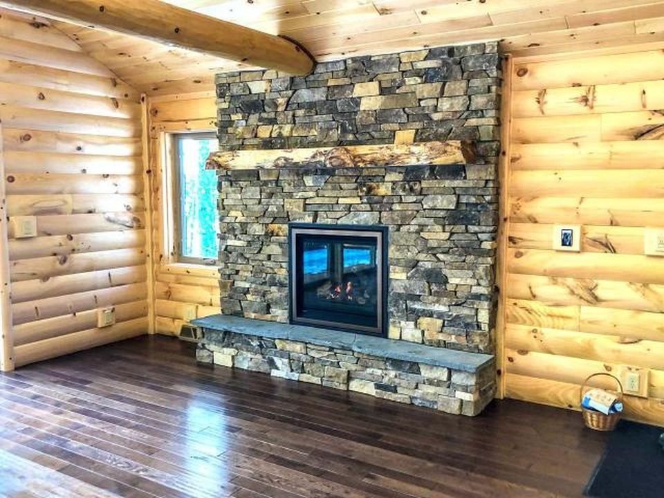 Interior Log Siding With Collar Tie In 2020