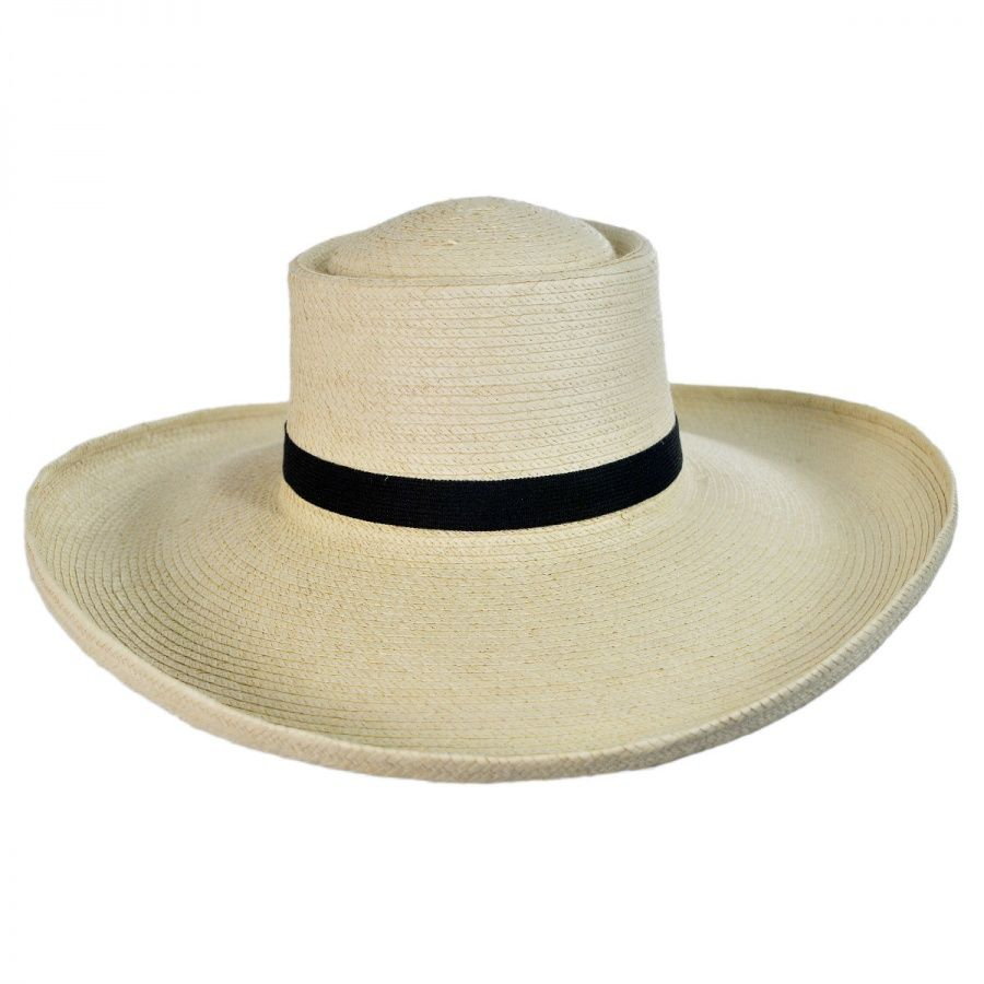 4aae9b1324f6d SunBody Hats Sam Houston Planter Guatemalan Palm Leaf Straw Hat