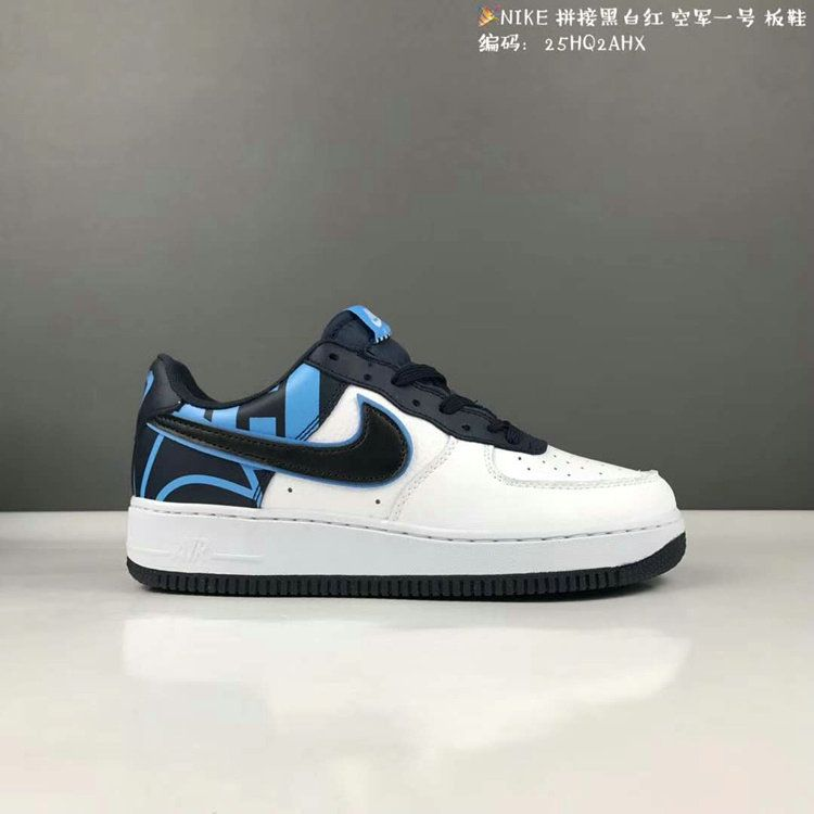 33a0c700a3b8 Nike Air Force 1 Low Greyish White Iron Blue Black ...