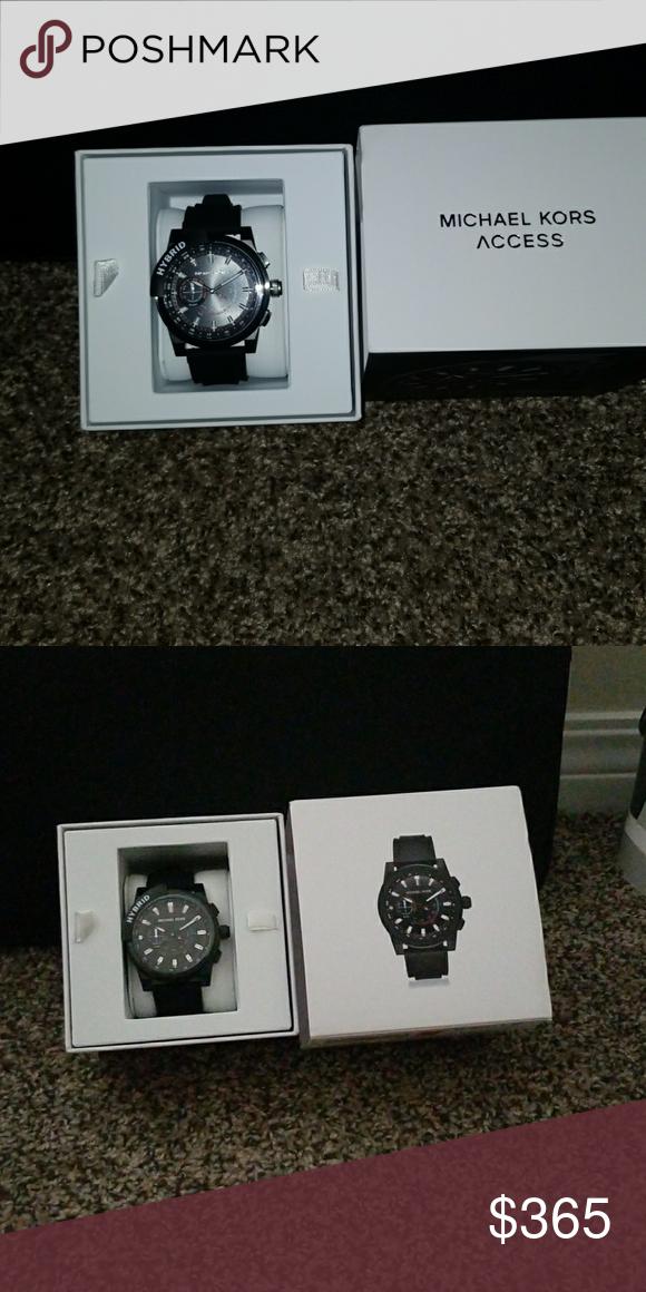 732b1661de80 Michael Kors MENS hybrid watch Black MKT 4010 MICHAEL Kors smart watch  built for hybrid design ionic plate Grayson black Michael Kors Accessories  Watches