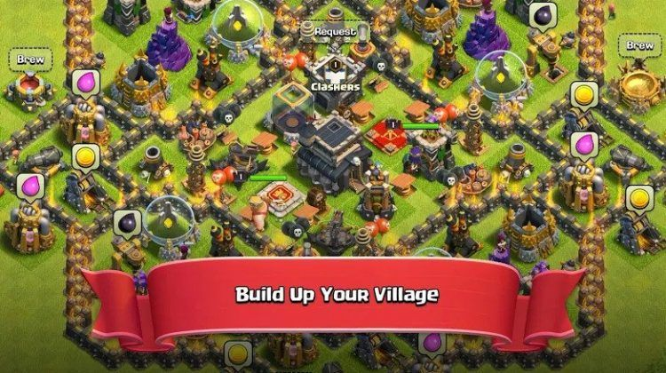Clash of clans 136751 apk mod gems skins for android
