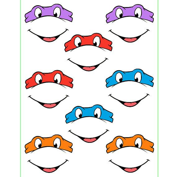 INSTANT Download Ninja Turtles EYES with mouth for by Inulja ...