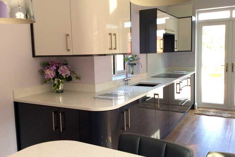 An Innova Altino Graphite High Gloss Kitchen | Real ...