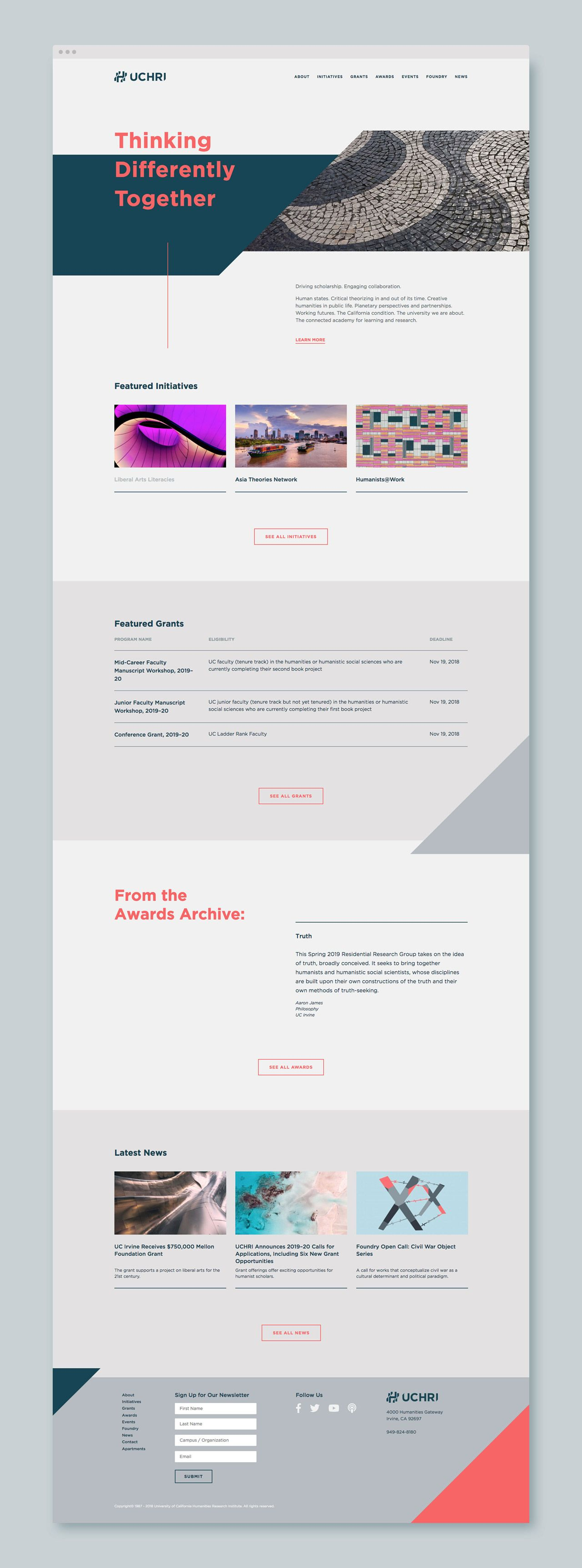 Uchri Visual Identity By Truf Simple Web Design Portfolio Web Design Web Layout Design