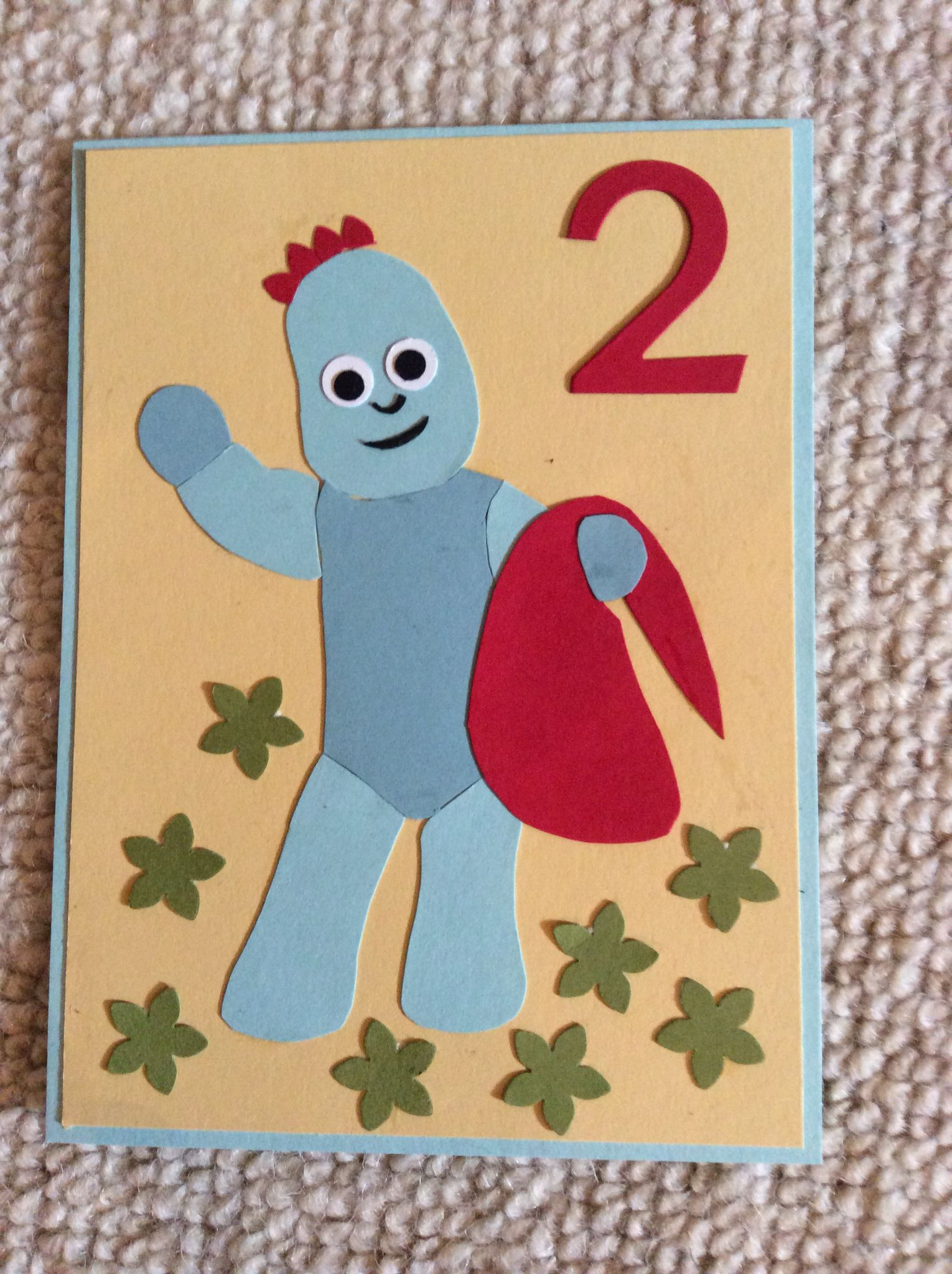 Homemade Igglepiggle In the Night Garden Birthday Card
