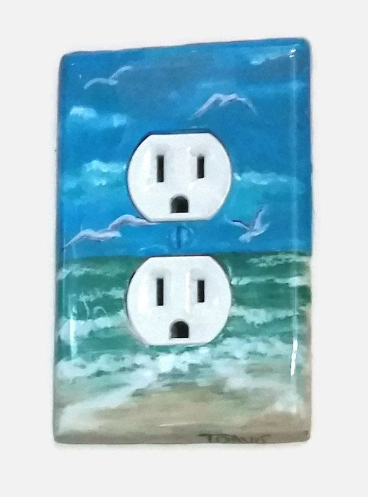 Ocean Beach Light Switch Plates Outlet Covers Beach Themed