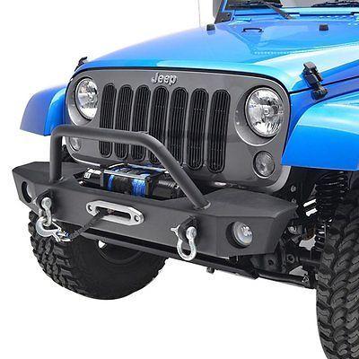 07 16 Jeep Wrangler Jk Rock Crawler Front Bumper W Oe Fog Light