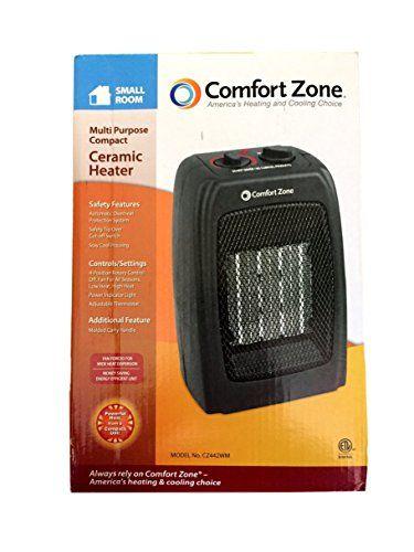 Outdoor Heaters Comfort Zone Multi Purpose Ceramic Heater Black