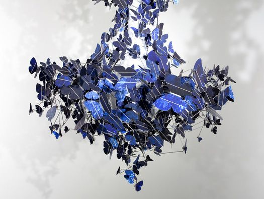 Lovely Virtue Of Blue Is A New Work By Dutch Artist And Designer Jeroen Verhoeven  That Features Of 500 Butterflies Cut From Sapphire Blue Photovoltaic Cells. Awesome Design