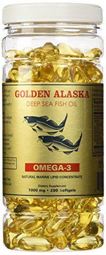 Golden Alaska Deep Sea Fish Oil Omega 3 1000 Mg 200 Capsules