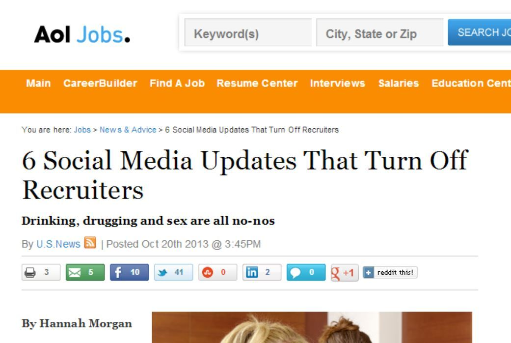 6 Social Media Updates That Turn Off Recruiters Hiring process - careerbuilder resume search