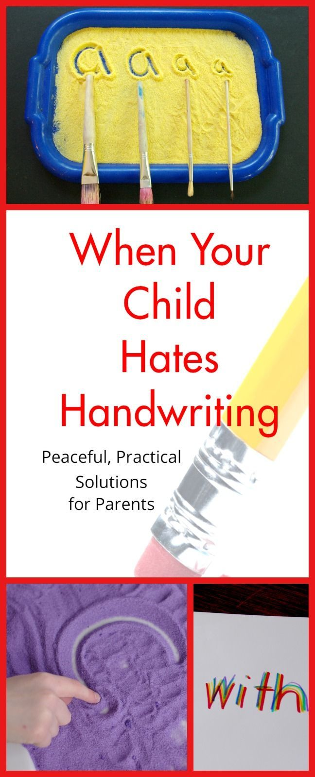 When Your Child Hates Handwriting --The Book   Handwriting ...