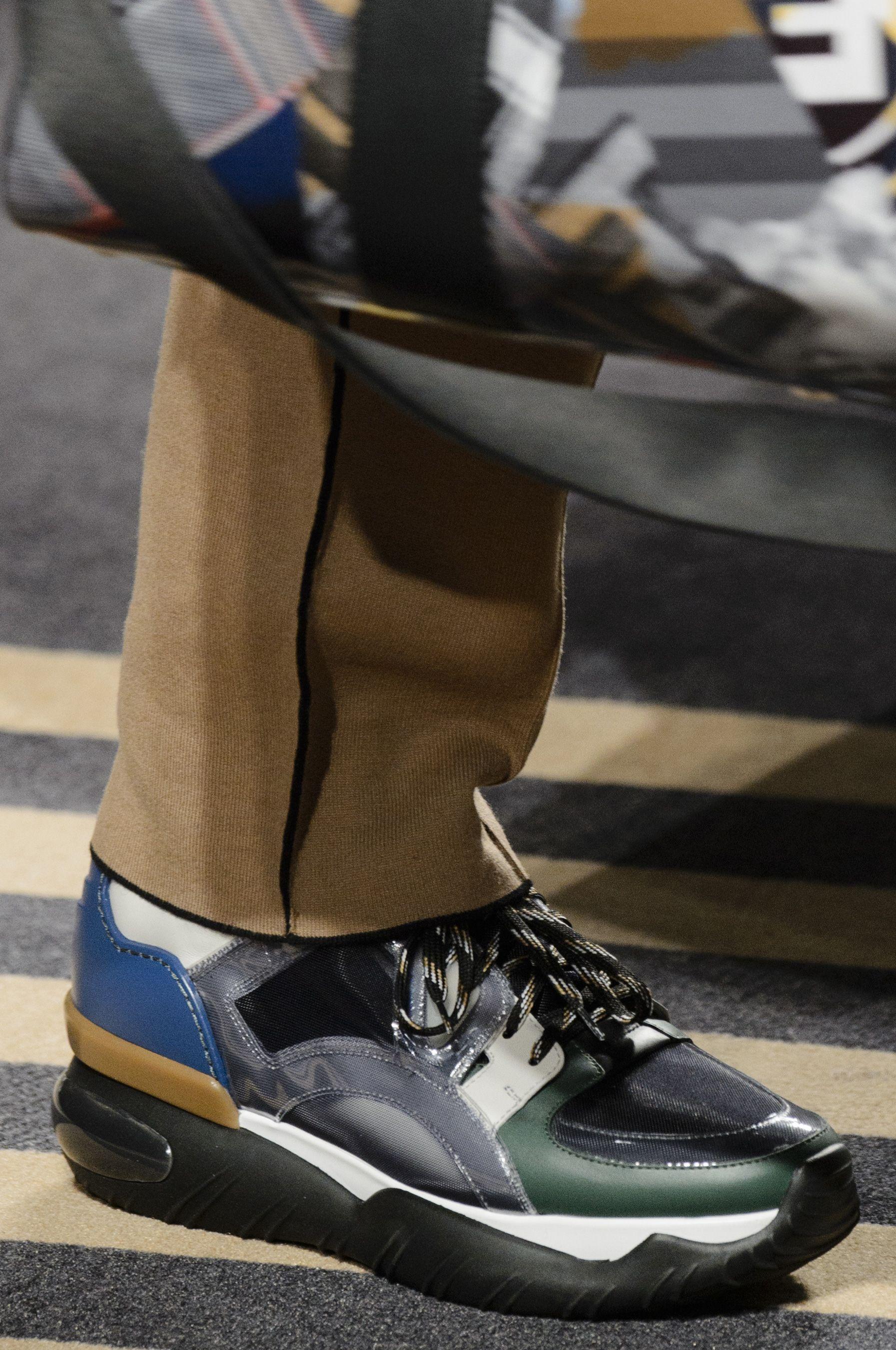 Men fashion show, Fendi shoes