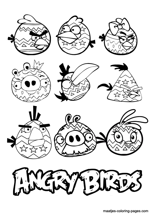 Angry Birds Coloring Pages Easter Angry Birds Is A Fantasy Based Video Game Franchise Create Coloring Books Easter Coloring Pages Coloring Pages