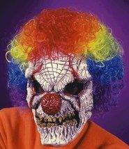 Scary Clown Mask with Wig ON SALE $11.99 reg. $13.75    August 2012 Semi-Annual Halloween Mask Sale