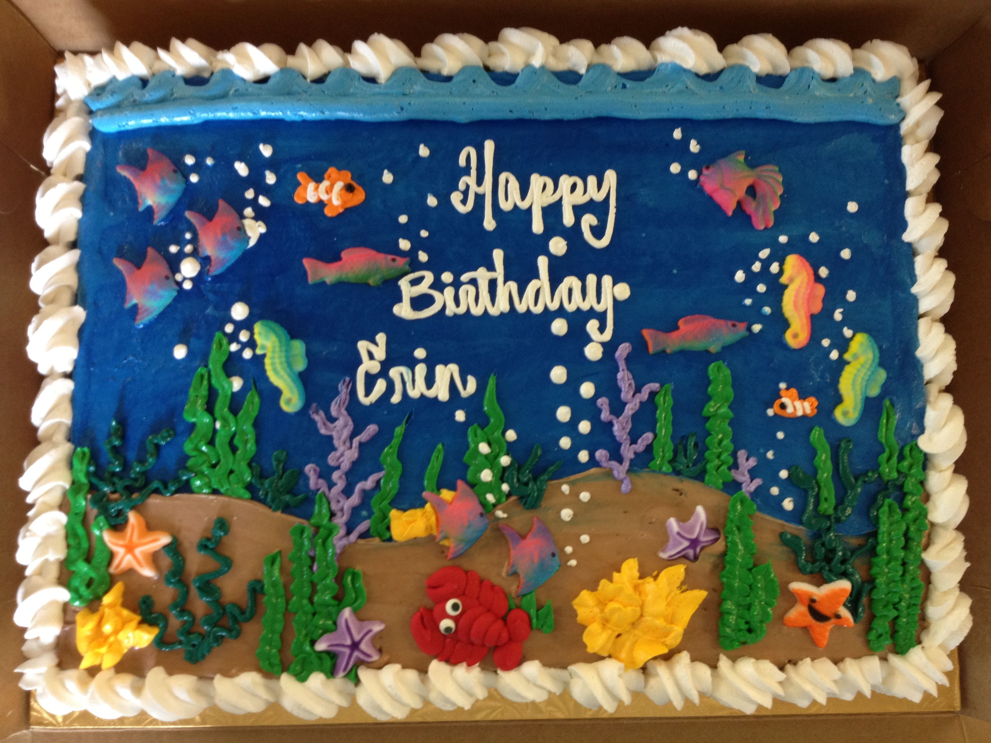 Under The Sea Cake Mueller S Bakery With Images Easy Cakes For Kids Sea Cakes Summer Cakes