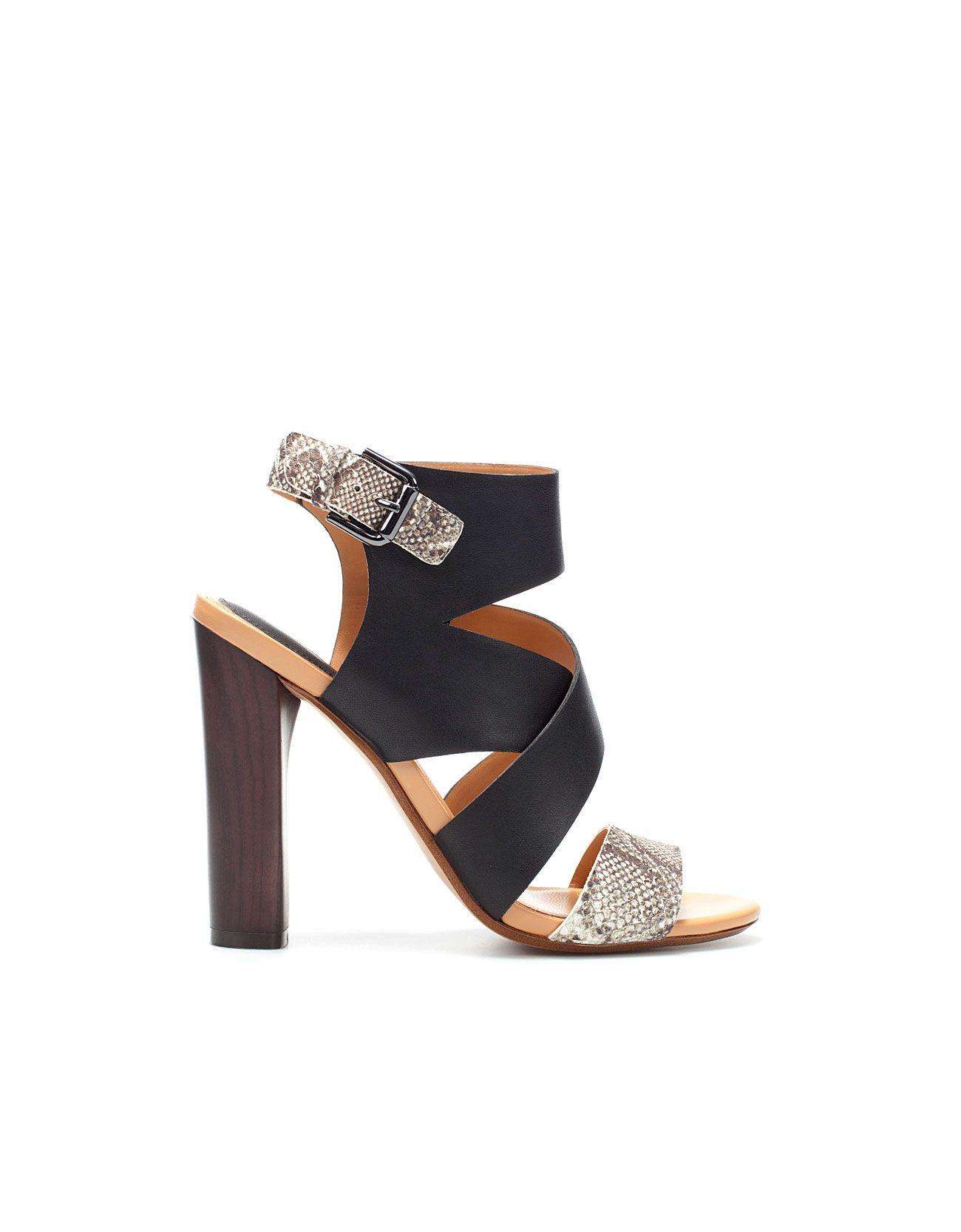 91af3feb0c37 3 4 12 Zara snake skin straps heeled sandals. On this day in 1974 ...