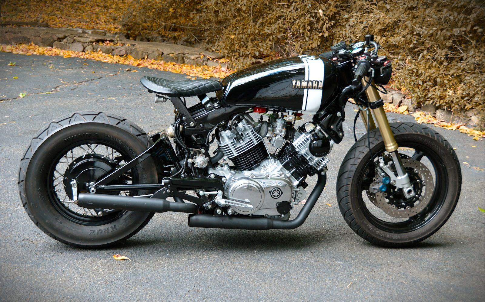 Readers Rides Dave S Bulldog Virago Cafe Racer Yamaha Cafe Racer Cafe Racer Bikes