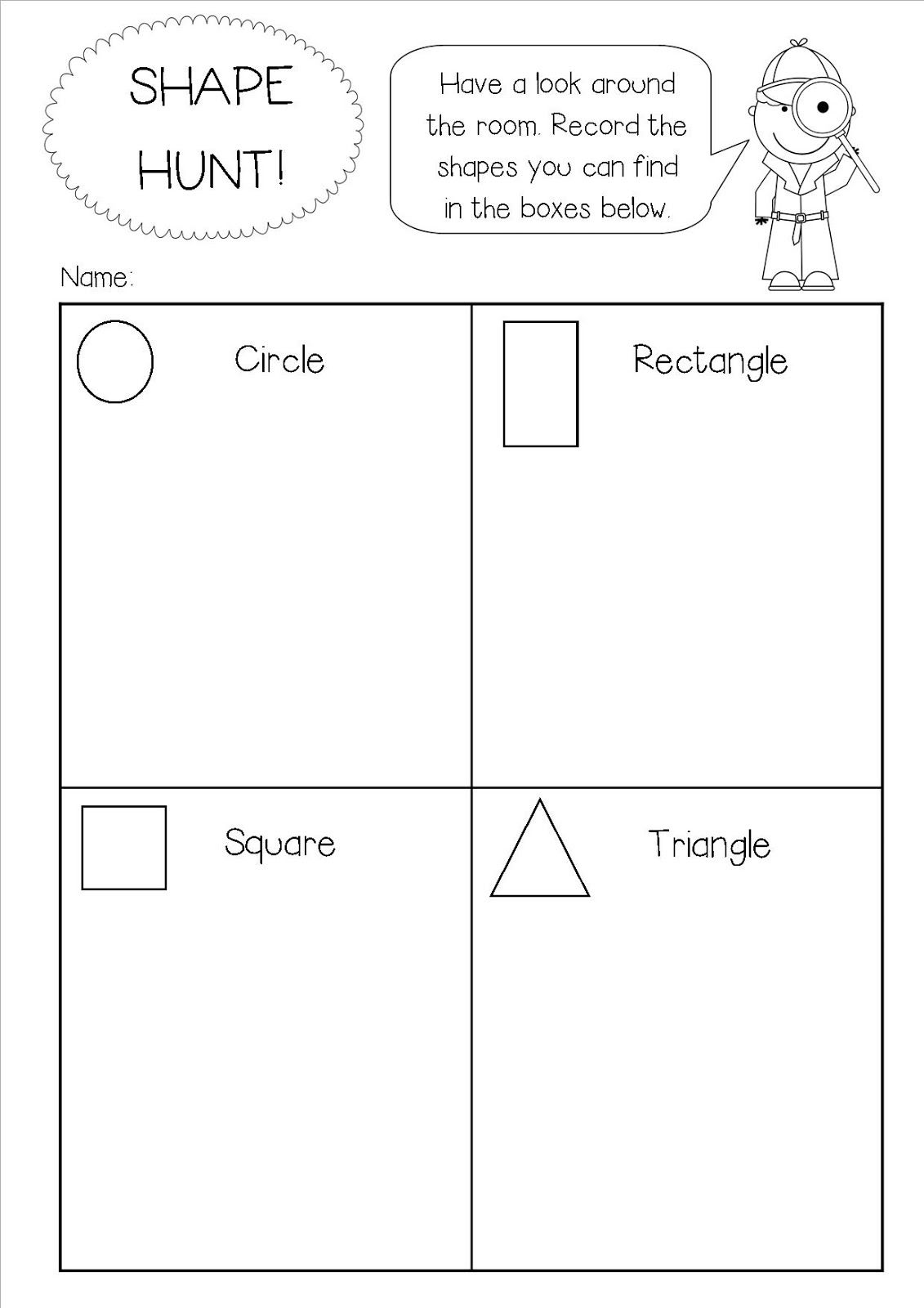 Hi I Just Thought I D Pop Up A Quick Post To Share A Little Shape Activity That I Ve Used As