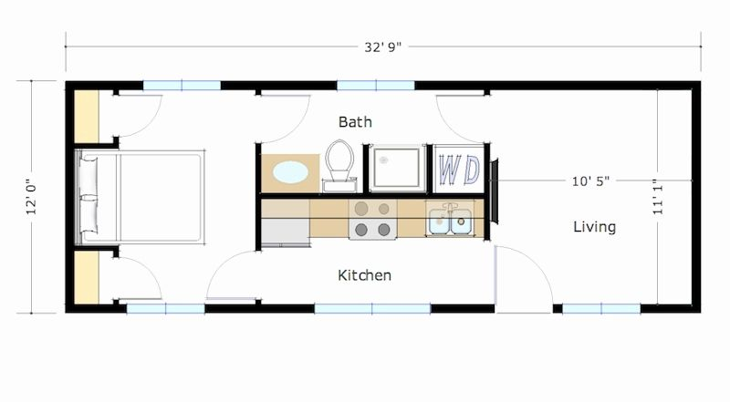Image Result For 400 Sq Foot Traditional Tiny House Tiny House