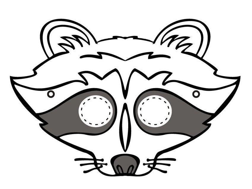 Karnevalove Masky Sablony K Vytisknuti Raccoon Mask