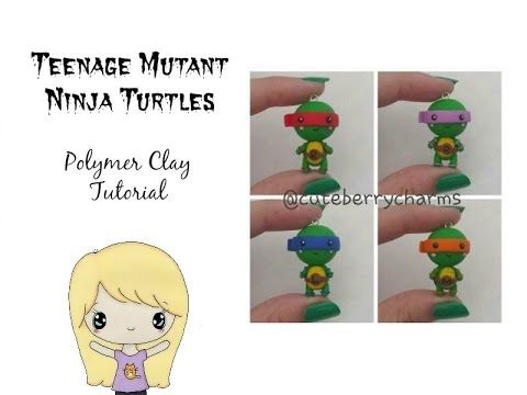 Kawaii Teenage Mutant Ninja Turtle polymer clay tutorial