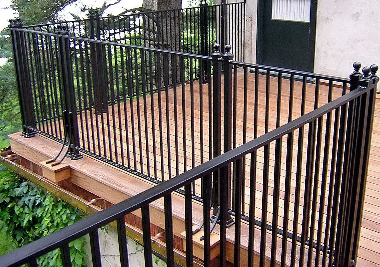 Best Metal Deck Railing Ideas Aluminum Decking Porch Railing 640 x 480