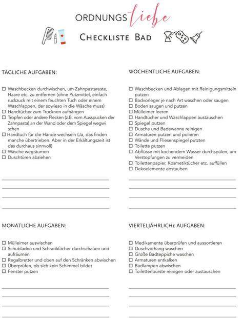 Frühjahrsputz Checkliste downloads frühjahrsputz checkliste und bäder