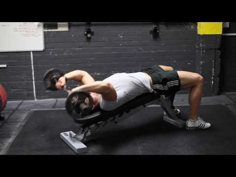 Decline bent-arm barbell pullover guide and video | Weight ...