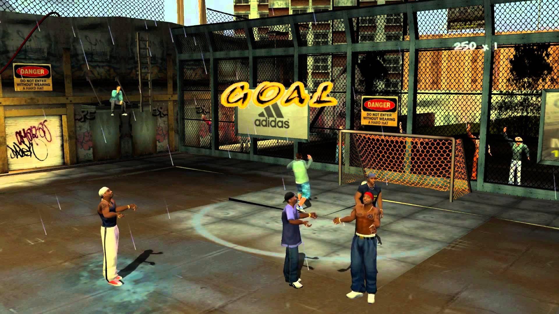 تحميل لعبة كرة الشوارع للكمبيوتر Freestyle Street Soccer رابط مباشر من ميديا فاير Street Soccer Basketball Court Sports