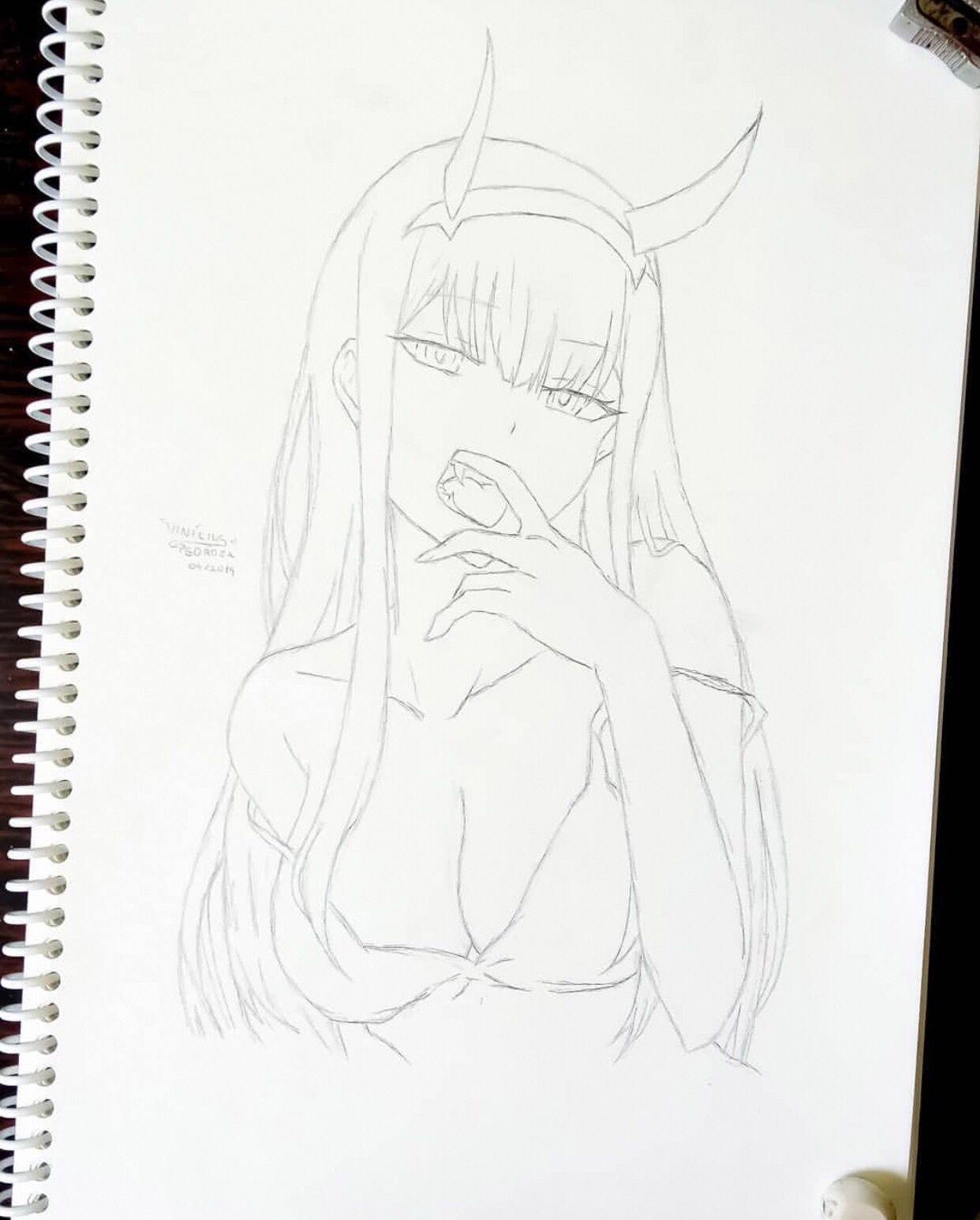 Zerotwo By Vinipedroza San Visit Our Website For More Anime And Animeart Anime Drawings Boy Naruto Sketch Drawing Anime Drawings Sketches